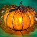 Orange Glass Crackle Lamp by alan_sailer