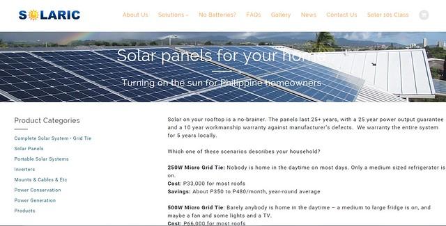 solaric web site