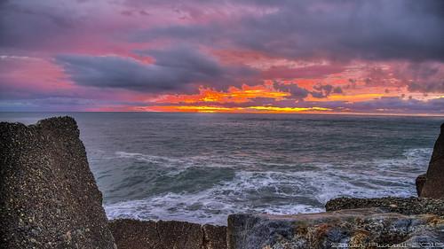 sunset newzealand beach water rocks westcoast hdr canonefs1785mm blaketown canon600d
