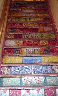 Painted stairs in Valparaiso