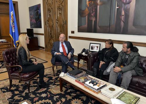Secretario General de la OEA se reunió con esposa del dirigente venezolano de oposición Leopoldo López