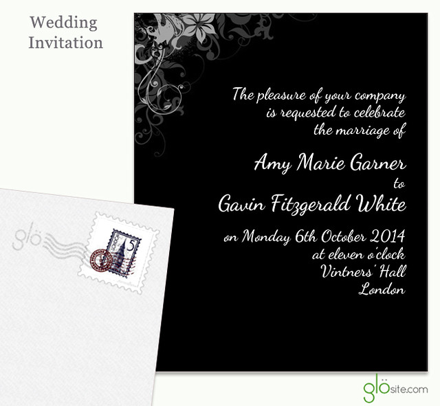 glosite email wedding invitations