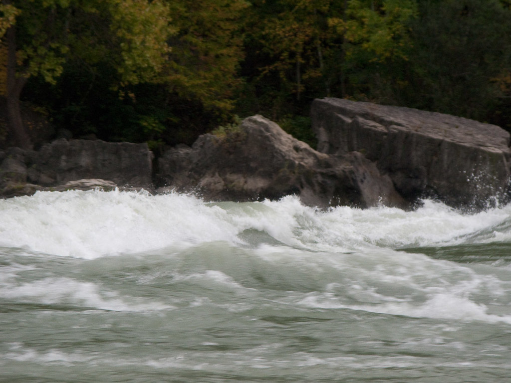 View of Rapids from Whirlpoll Jet Boat tour