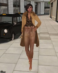 GizzA - Valerie Trench Coat and Valerie Cropped Pants Camel