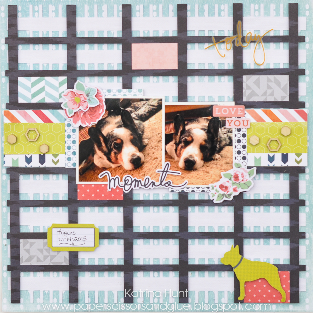 Moments_Scrapbook_Page_Mad_For_Plaid_Change_Plaid_Tutorial_Heidi_Swapp_Katrina_Hunt_17turtles_Digital_Cut_Files_-1