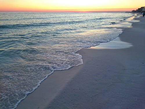 ocean sunset beach water sand gulf florida destin