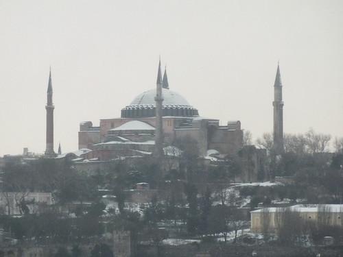 Isztambul a hóban