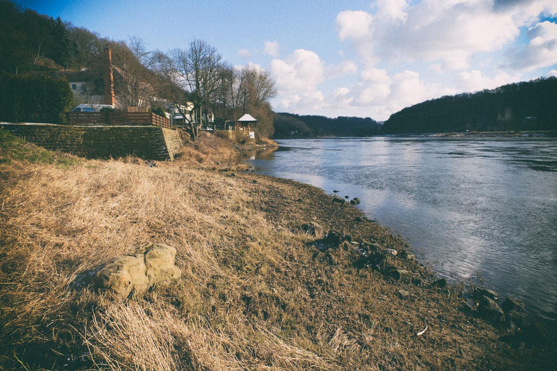 Elbe bei Posta