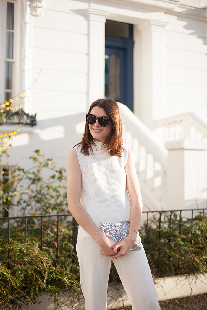 UK Fashion Blogger | White Wide Leg Trousers | Street Style