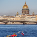 Water tourism on Neva river