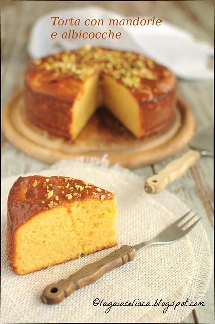Torta con albicocche e mandorle senza glutine