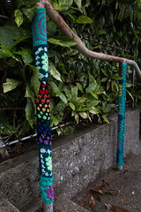 Yarn bombing Besançon 23
