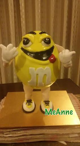 M&M Gravity Cake by MeAnne