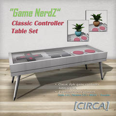 "@ Geektopia ~ [CIRCA] - ""Game NerdZ"" - Classic Controller Table Set"