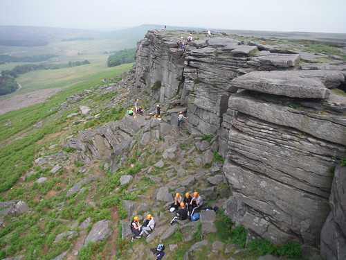 Rockclimbers, Stanage Edge