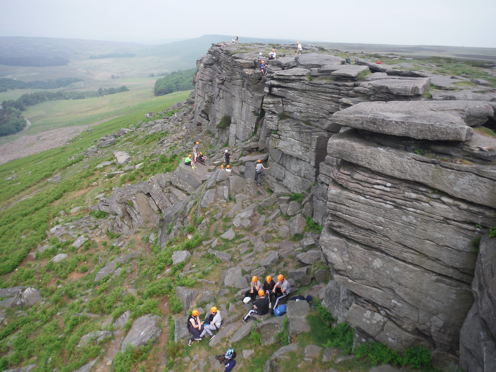 Rockclimbers, Stanage Edge SWC Walk 266 - Sheffield to Bamford (via Burbage Rocks and Stanage Edge) or to Moscar Lodge