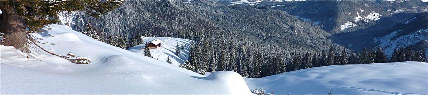 Silvester im Gebirge. Stuibenhütte im Wetterstein-Gebirge. Foto: Günther Härter.