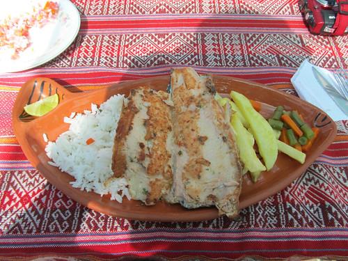 Lac Titicaca: une excellente truite du Lac Titicaca (sur l'île de Taquile)
