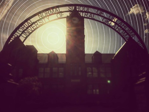 sun silhouette sunrise archway backlighting onepointperspective uco oldnorth ucobronchos unitedbyedit mobileartistry uploaded:by=flickrmobile flickriosapp:filter=nofilter ndpatterns