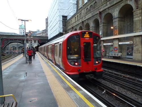 S8 Stock Tube train at Barbican
