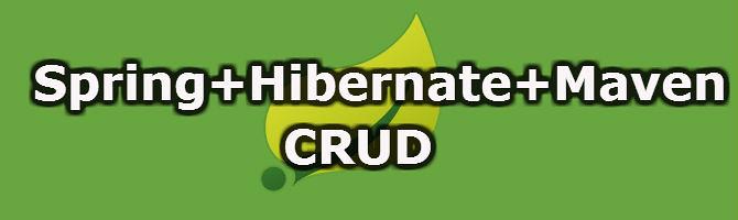 Spring Hibenrate Maven CRUD