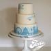 Sarah's London wedding cake by Jen's Cakery