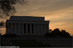 Sunset at Lincoln Memorial