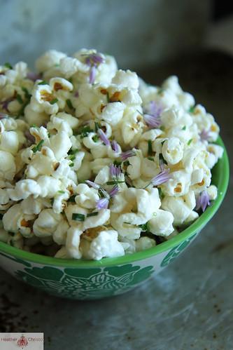 Chive Blossom Popcorn