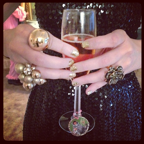 Liberace party accoutrements as seen on @qtothed #liberace #rings #sparkle #overthetop #bling #instagood