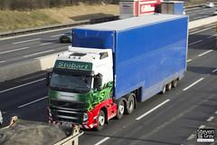 Volvo FH 6x2 Tractor - PX11 CJF - Catherine Sophia - Eddie Stobart - M1 J10 Luton - Steven Gray - IMG_3245