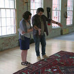 WFUV's Carmel Holt interviews Wilco's Jeff Tweedy for the cameras in The Loft at MASSMoCA. Photo by Laura Fedele