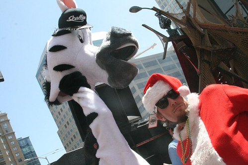 Zebra and Santa