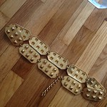 Spanish studded chain belt from tag sale in Roslyn