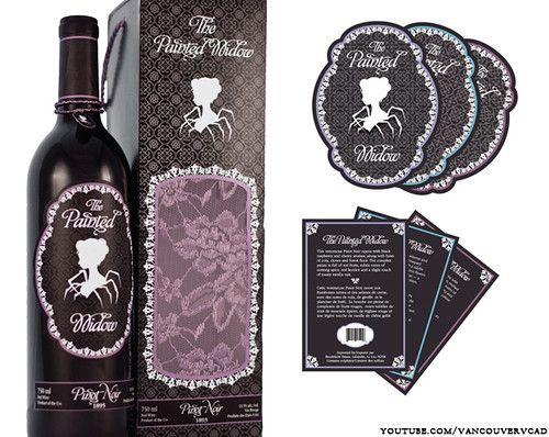 pinot noir wine The Painted Widow label design by the VCAD student Kiley W