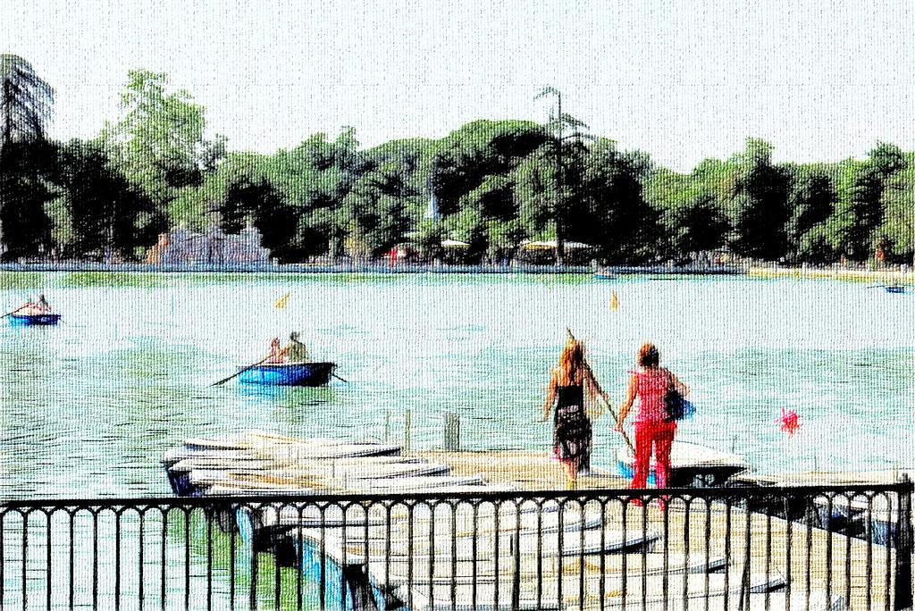 Una mañana de julio en el estanque del Retiro