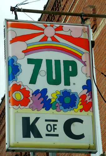 Knights of Columbus - 7Up sign, Bronson, Michigan