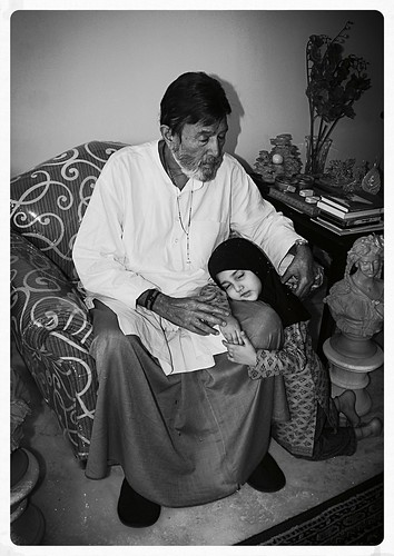 A Grand Fathers Healing Touch- Mr Rajesh Khanna And Marziya Shakir by firoze shakir photographerno1