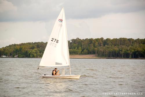 em's first sail