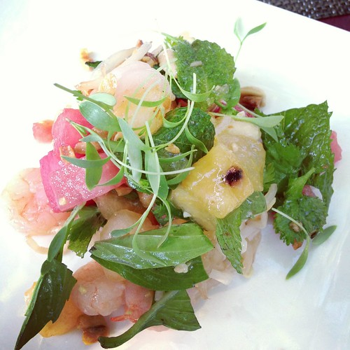 Goose & Gander melon and shrimp salad