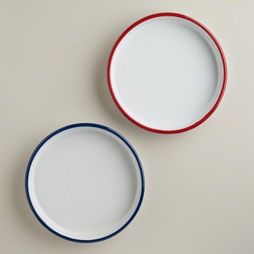 """Ceramic """"Enamel"""" Pie Dishes"""