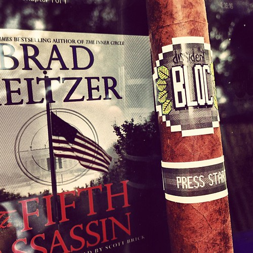 Giving this BLOC by dissident a try and listening to @bradmeltzer #cigars #audiobooks