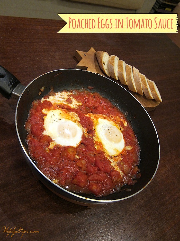 Poached Eggs in Tomato Sauce: Simple and easy meal.