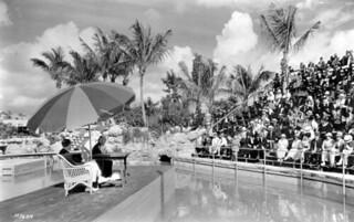 William Jennings Bryan speaking at the Venetian Pool: Coral Gables, Florida