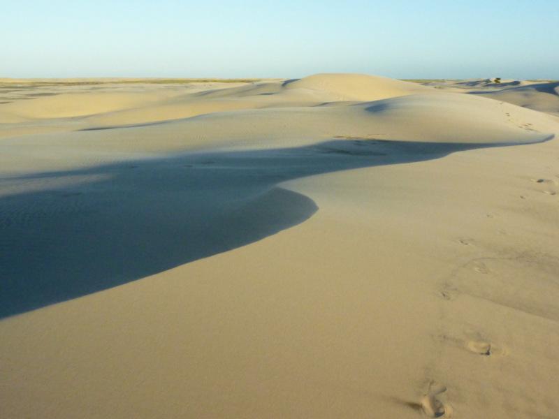 Vista aérea das dunas no balneário mostardense.