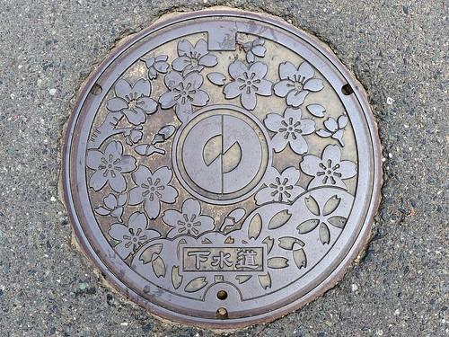 Imadate Fukui , manhole cover 2 (福井県今立町のマンホール2)