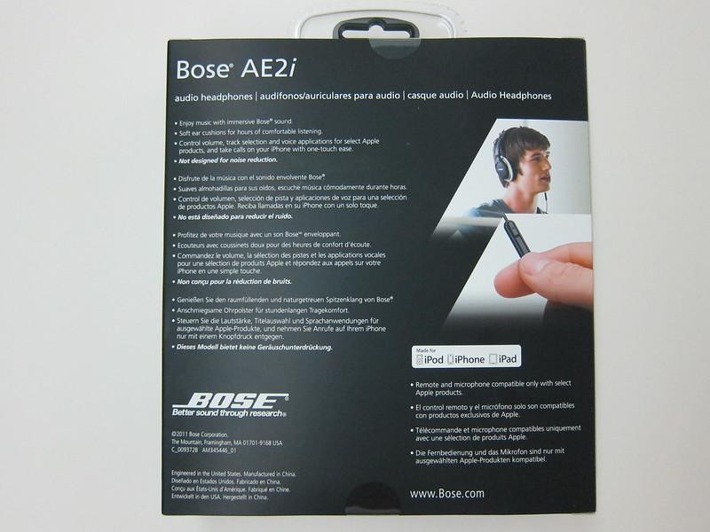 Bose AE2i - Box Back