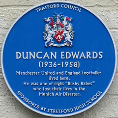 Photo of Duncan Edwards blue plaque
