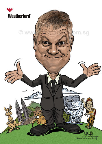 digital caricature for Weatherford (watermarked)