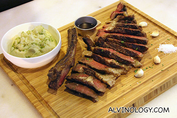 Beef prime rib with chunky mash (Serves 4-5) S$130/kg