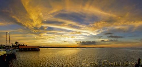 gulfofmexico sunrise construction florida tugboat drawbridge barge crain matlacha commercialdiver pineislandsound